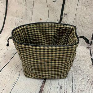 Longaberger Khaki Check Fabric Bin Divider Size A
